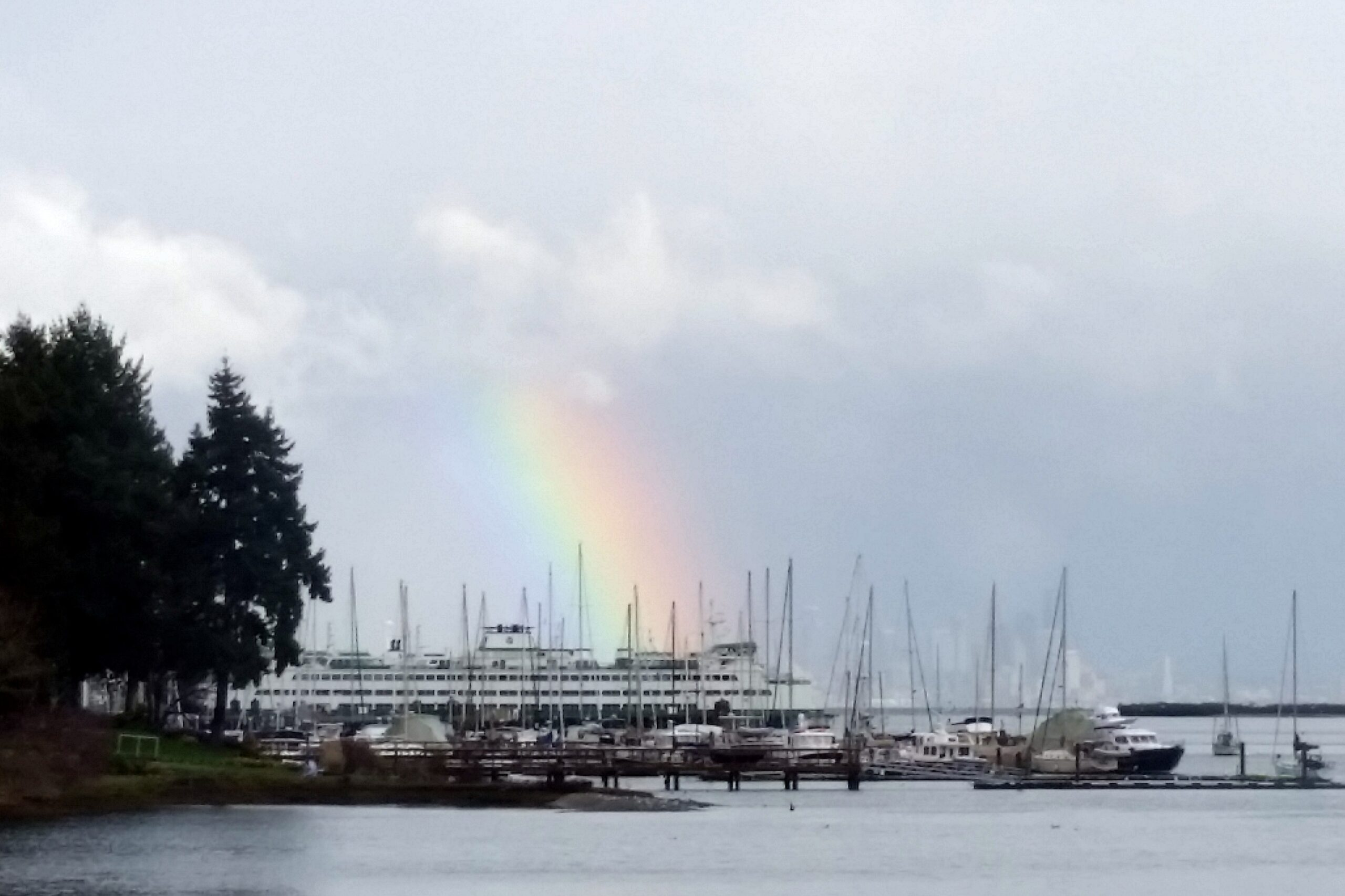 Eagle Harbor rainbow